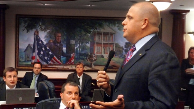 State Rep. Ritch Workman, seen here speaking in 2010, has filed a bill to make dwarf tossing legal once again in Florida.