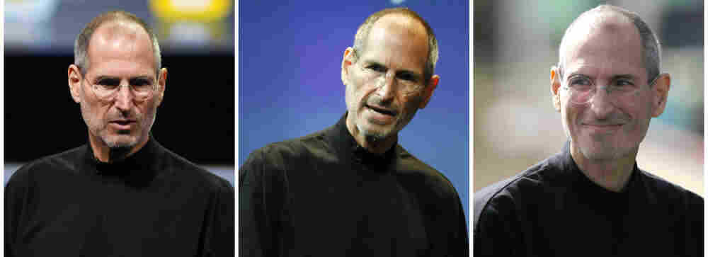 Three file photos, from left, Jan. 2010, July 2010 and Oct. 2010, show Apple CEO Steve Jobs. ON Â Jan. 17, 2011, Jobs took a medical leave of absence for the second time in two years.
