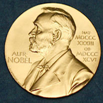 The Nobel Prize medal.