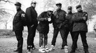 Public Enemy in 1987, as seen in the book Def Jam Recordings: The First 25 Years of the Last Great Record Label.