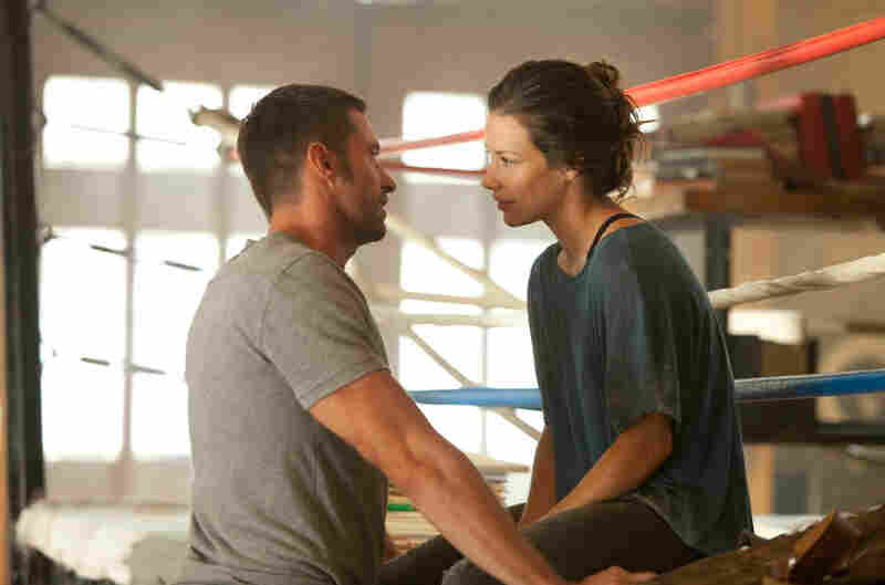 Million-dollar daughter: Bailey (Evangeline Lilly, right) runs the boxing gym where her late father once trained Charlie, who apparently coulda been a contender.