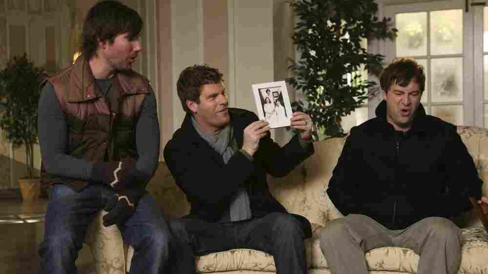 John Lajoie (from left), Stephan Rannazzisi and Mark Duplass, from the first season of The League. The new season beginss Thursday on FX.
