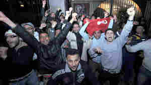 If the Nobel Peace Prize is to go to someone involved with the Arab Spring, it may be difficult to choose who gets the award. Here, men celebrate in Tunis after President Zine El Abidine Ben Ali said he would not seek another term.