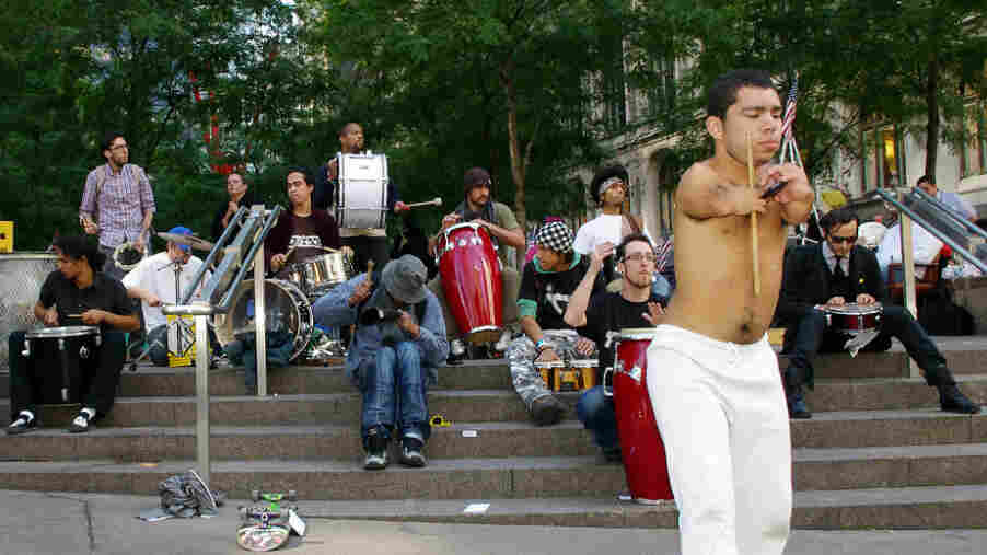 Zuccotti Park on Oct. 6. The people making music during the Occupy Wall Street protests are not celebrities.