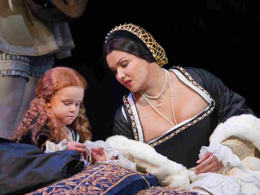 Clare Cashman and Anna Netrebko in Donizetti's 'Anna Bolena' in rehearsal at the Met, Sept. 15, 2011.
