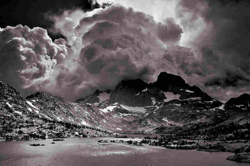 Late summer thunderheads build above Garnet Lake.