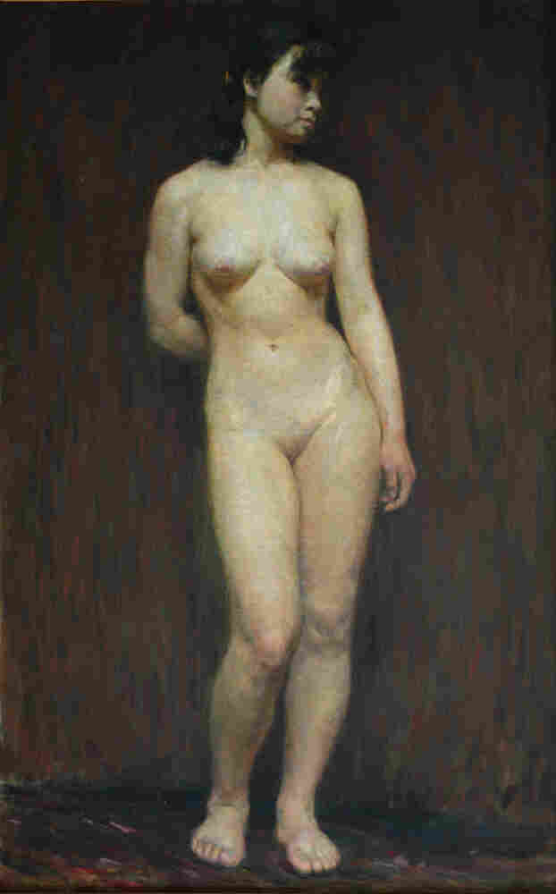 Chinese artist Wang Yanqing says he was one of several art students who painted this model in a class in 1983. It appears that one of those paintings was falsely billed as being the work of a famous Chinese artist, and auctioned off for more than $11 million last year.
