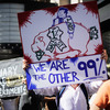 The scene at an Occupy Los Angeles demonstration earlier this month.