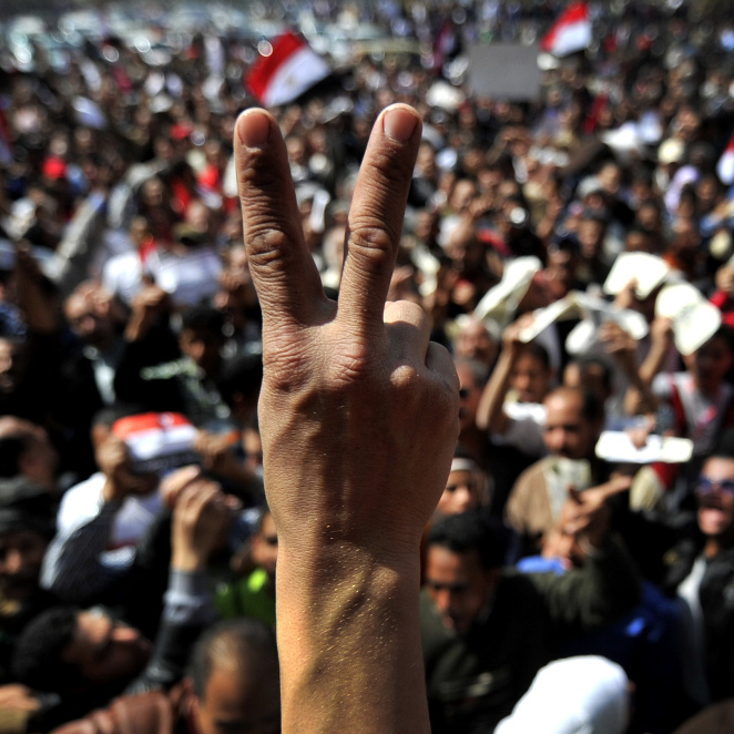 March 18, 2011: The scene in Cairo's Tahrir Square.