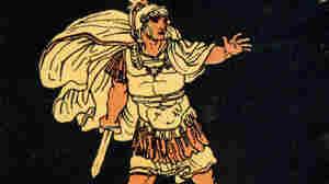 Aeneas in a scene from Virgil's Aeneid.
