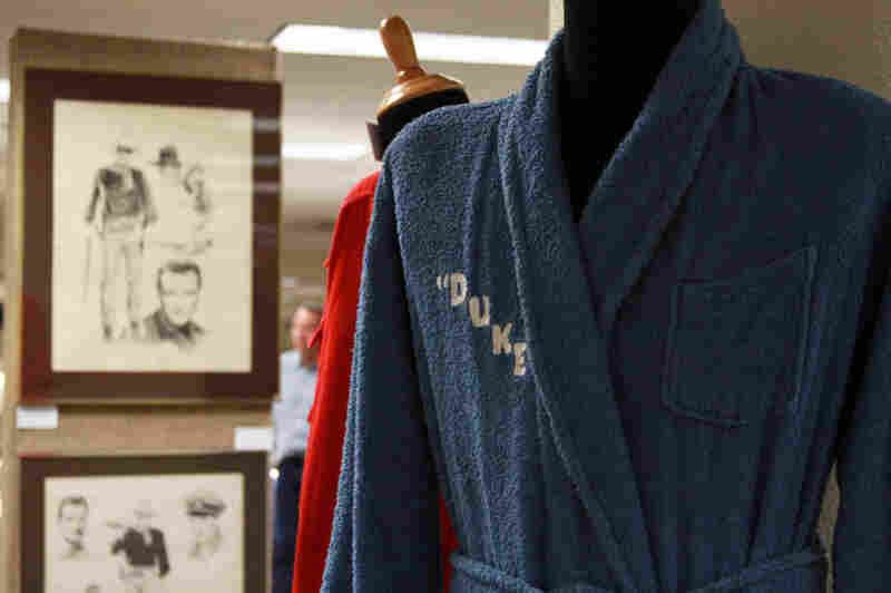 John Wayne's family auctioned off his bathrobes.