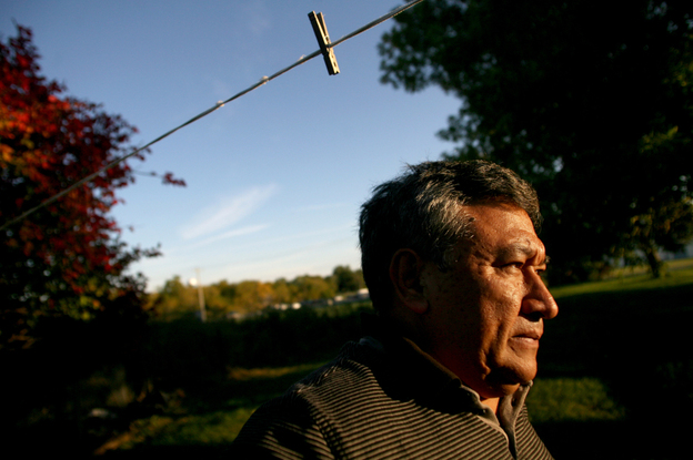 Jose Zacarias lives in an old farmhouse flanked by corn and soybean fields near the edge of town. The Mexican-born immigrant came to West Liberty more than 25 years ago.