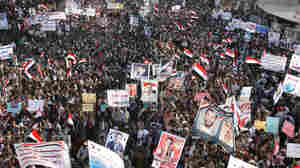 Thousands of anti-government protesters in Yemen demonstrate against President Ali Abdullah Saleh last month. Saudi Arabia wants Saleh to step down, but also worries that his departure could lead to chaos.