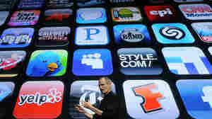 Steve Jobs speaks announces the new iPhone OS4 software in Cupertino, Calif., in 2010.