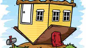 Upside-down house.