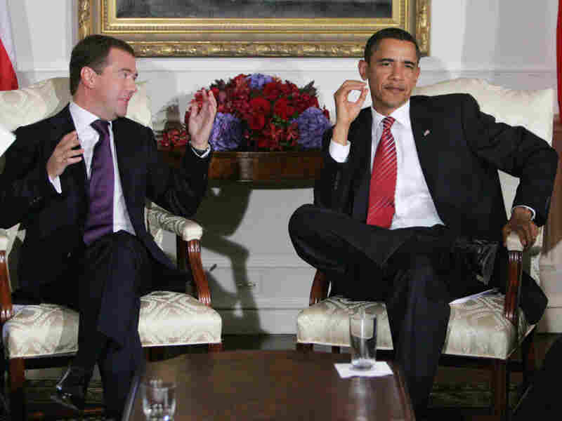 Russian President Dmitry Medvedev and President Obama met in September 2009 in New York City. The two leaders signed a bilateral treaty to lower the deployed-warhead levels of both countries that year.