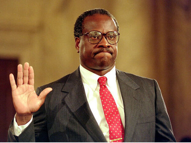 <p>Clarence Thomas took his oath of office on Oct. 23, 1991. </p>