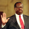 Clarence Thomas took his oath of office on Oct. 23, 1991.
