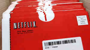 Packages of DVDs await shipment at Netflix's headquarters in San Jose, Calif.