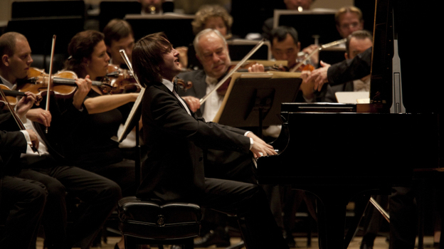 Pianist Daniil Trifonov makes his Carnegie Hall main stage debut with the Mariinsky Orchestra and Valery Gergiev on October 11, 2011.  (Melanie Burford)