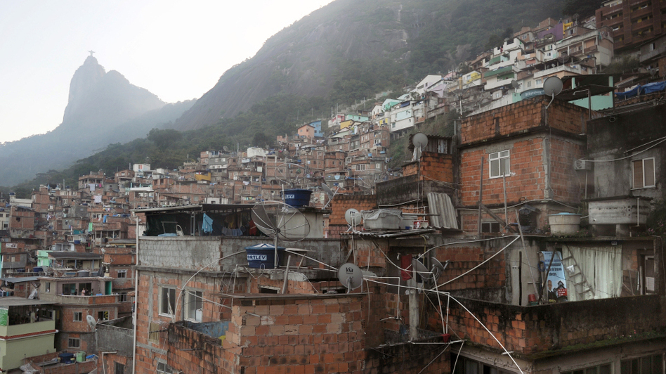 Santa Marta is one of the many slums that dot the hillsides of Rio de Janeiro, Brazil. Rio, host of the World Cup in 2014 and the Olympics in 2016, is now trying to remake these slums, or favelas, long wracked by poverty and violence. (AFP/Getty Images)