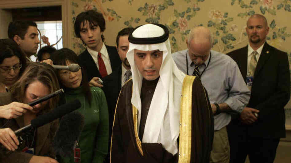 The Saudi ambassador to the U.S., Adel al-Jubeir, speaks to the press in Annapolis, Md., in 2007. The U.S. government said Tuesday that elements in the Iranian military plotted to kill the ambassador.