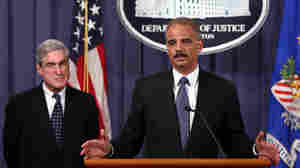 U.S. Attorney General Eric Holder (right) and FBI Director Robert Mueller announce a plot had been foiled involving men allegedly linked to the Iranian government to kill the Saudi ambassador to the U.S. and bomb the embassies of Saudi Arabia and Israel in Washington at a news conference October 11, 2011 in Washington, DC.