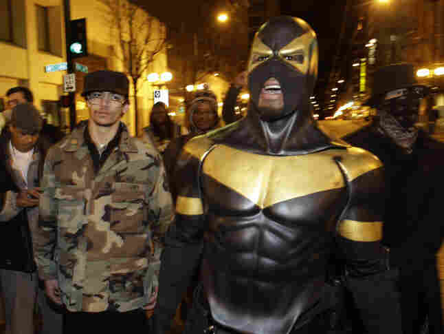 Phoenix Jones on the streets of Seattle back in February.