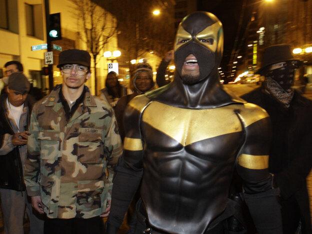 Phoenix Jones on the streets of Seattle back in February.