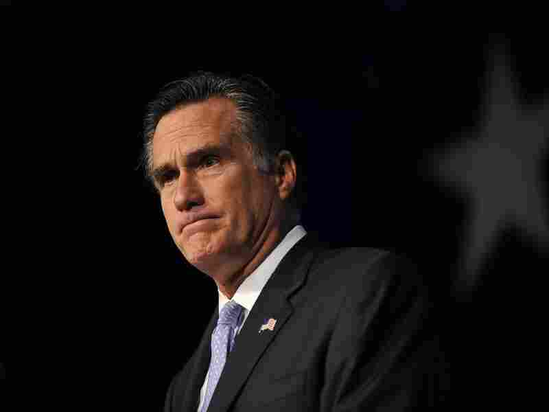Republican presidential hopeful and former Massachusetts governor Mitt Romney addresses the Family Research Council's Values Voter Summit in Washington on Oct. 8, 2011.