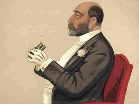 An 1890 lithograph of banker and financier Reuben Sassoon.