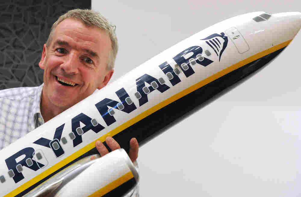 President of Irish budget carrier Ryanair Michael O'Leary poses prior to a press conference in Madrid in Sept. 2011.
