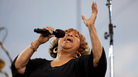 Mavis Staples performs with The Roots at the Climate Rally on the National Mall on April 25, 2010, in Washington, D.C.