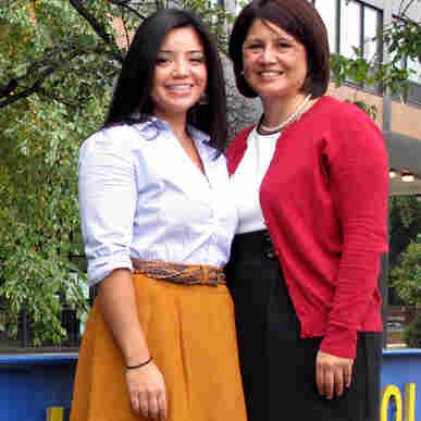 Natalie Ochoa (left) and her mother, Betty Ochoa, say that services at the New Life Covenant church are less formal than those of the Catholic church they once attended.