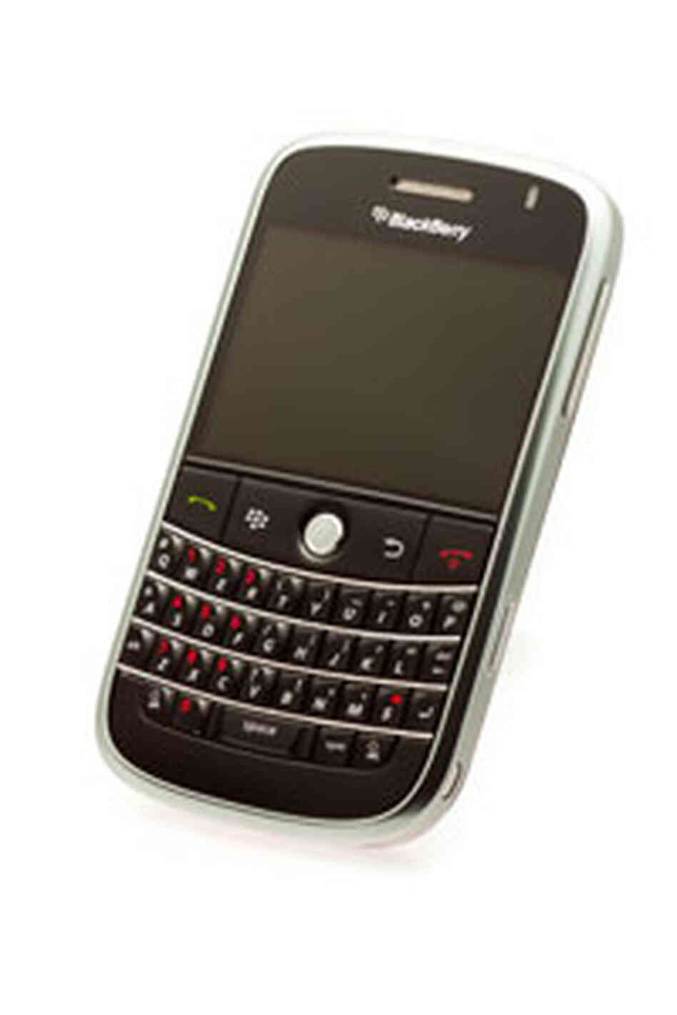 An older model BlackBerry.