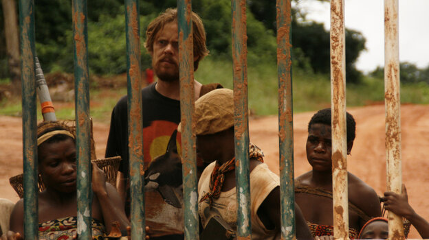 Innocence Abroad: Entranced by their music, Larry (Kris Marshall) leaves Newark for life (and love?) among hunter-gatherer pygmies in the Central African Republic — even though his jungle survival skills aren't up to scratch.