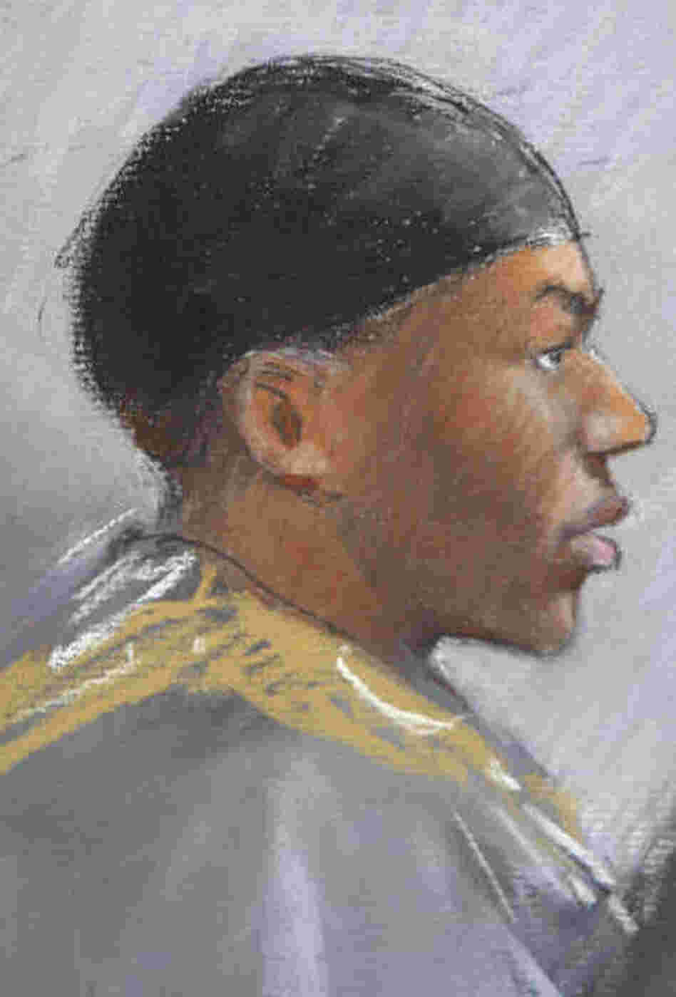 A courtroom drawing, from earlier this week, of Umar Farouk Abdulmutallab.