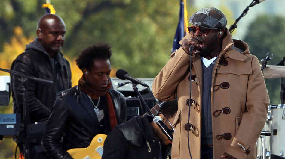 The Roots, pictured here at John Stewart's Rally To Restore Sanity at the National Mall in Washington, D.C. last fall, have performed and recorded songs with roots in protest movements.
