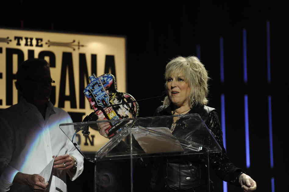 Lucinda Williams took home a Lifetime Achievement Award.