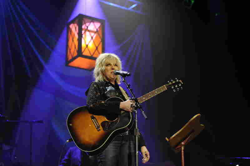 "After accepting her award, Lucinda Williams performed the title song to her latest album, ""Blessed."""
