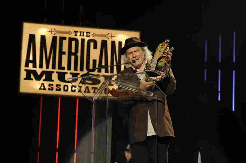 Buddy Miller accepts the award for Instrumentalist of the Year.