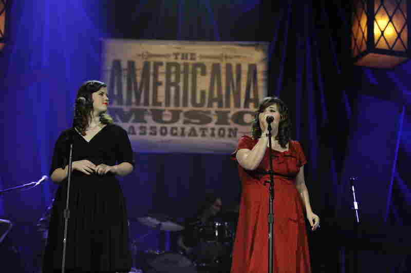 New Artist of the Year nominees The Secret Sisters perform on Thursday night.