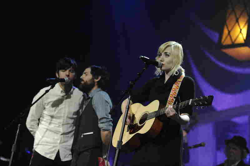 Jessica Lea Mayfield (right) lost out to Mumford & Sons (not pictured) for New Artist of the Year.