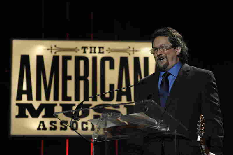 Dobro master Jerry Douglas accepts his Lifetime Achievement Award on Thursday night.