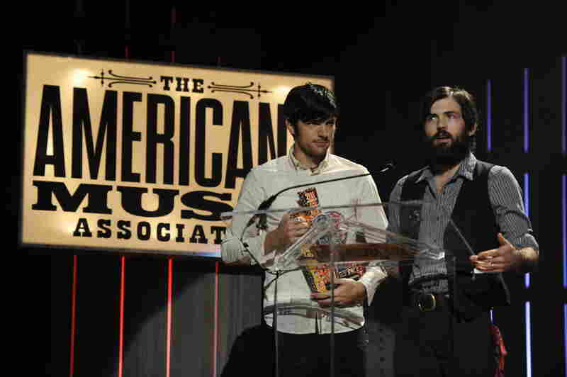 The Avett Brothers accept the award for Group of the Year.