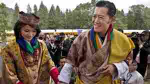 King Jigme Khesar Namgyal Wangchuck and Queen Jetsun Pema after their wedding earlier today (Oct. 13, 2011) in Punakha, Bhutan.