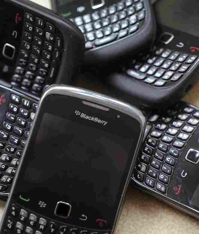BlackBerrys.