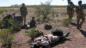 In southern Arizona, troops take part in a large-scale search-and-rescue exercise called Operation Angel Thunder.