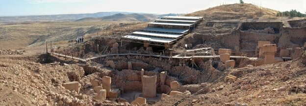 Gobekli Tepe: a view of the southern excavation field