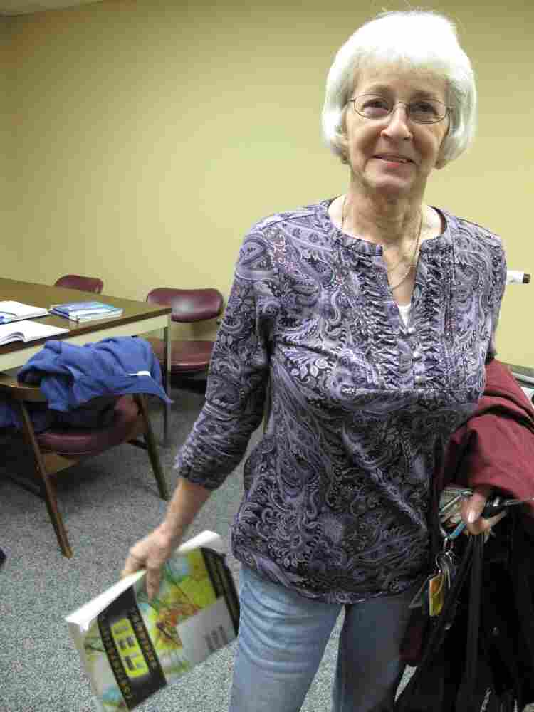 Rosa Sherbert, 68, worked in textiles for about 30 years. Now she's studying to take the GED exam.